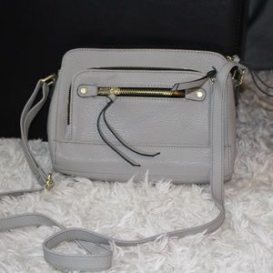 Handbags - LIGHT GREY CROSSBODY PURSE